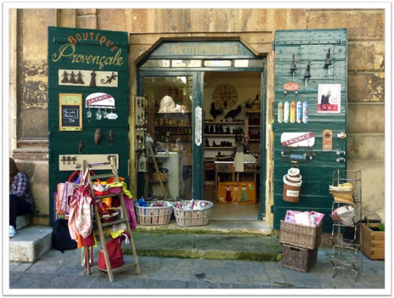 A typical store at the old town of Aix en Provence