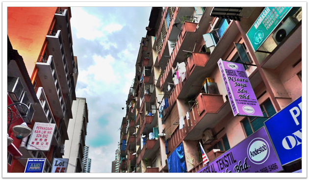 Urban Canyon in Kuala Lumpur, Malaysia